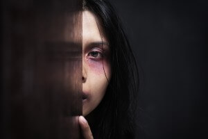bigstockphoto Injured Woman Hiding In Dark 6244518 300x200 The Shame of Domestic Abuse