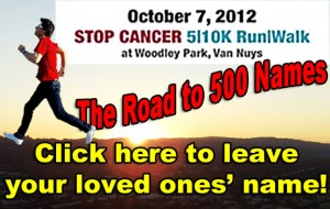 BM run 500 feature 300x190 Cancer: 500 Names and He Runs For Them